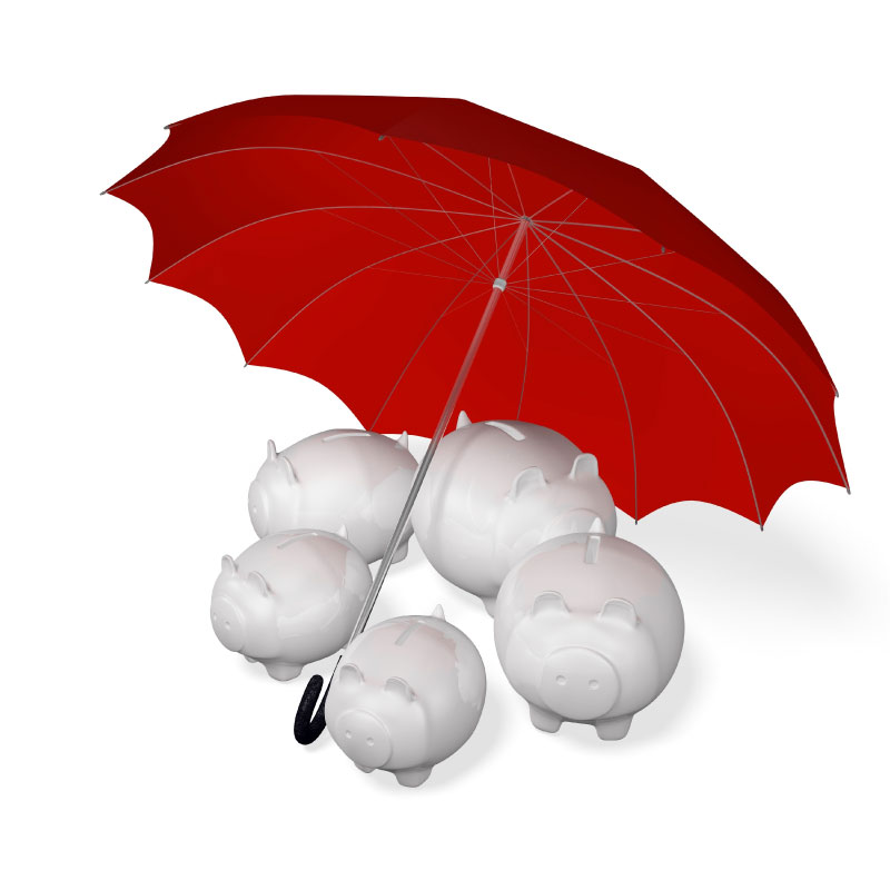Insurance protection for piggy banks under umbrella